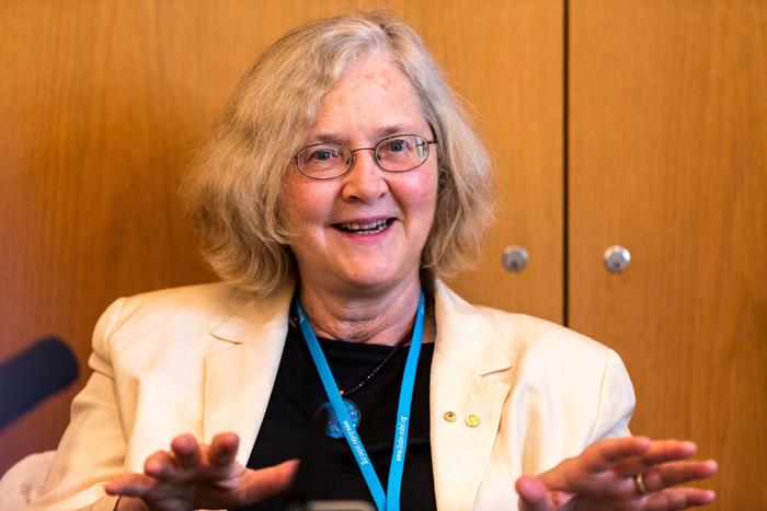 Prof. Elizabeth Blackburn. Photo: C. Flemming/Lindau Nobel Laureate Meetings